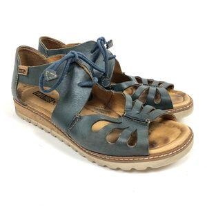Pikolinos Leather Marazul Sandals Teal 39